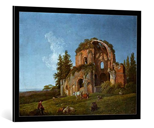 cuadro-con-marco-johann-christian-klengel-landscape-with-the-ruins-of-the-socalled-temple-of-minerva