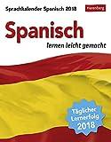 Sprachkalender - Spanisch lernen leicht gemacht - Kalender 2018 - Harenberg-Verlag - Tagesabreißkalender - 12,5 cm x 16 cm