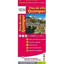 Quimper Plan de Ville 1 : 10 000 (Ign Map)