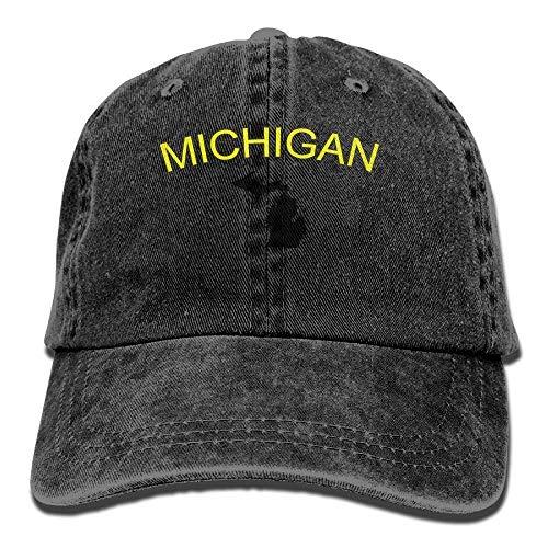 CHSUNHEY Cotton Scarf Michigan Funny Men Glorious Dad Hats Cotton Adjustable Denim Baseball CapsFor Touring, Hiking, Fishing, Mountain Climbing, Indoor / Outdoor