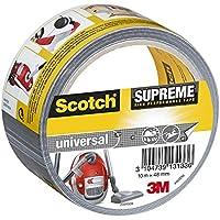 Scotch 19500185756 Suprême Ruban Toilé de Réparation Ultra Résistant 10 m x 48 mm 1 Rouleau Argent