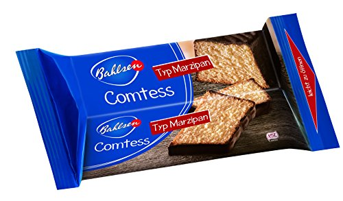Bahlsen Comtess Marzipan, 350 g - saftiger Rührkuchen mit Schokoladenglasur - einzeln verpackter Kuchen für unterwegs oder zum Kaffee - leckerer Kuchensnack