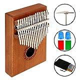 17Clé pouce Piano Kalimba solide doigt Piano professionnel Mbira Instrument avec boîtier portable