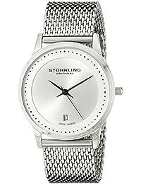 Stuhrling Original Classic Ascot Casatorra Elite - Reloj de cuarzo, para hombre, con corea de acero inoxidable, color plateado