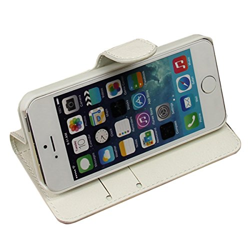 iPhone 5S Coque, iPhone SE Coque, Lifeturt [ Lune ] [book-style] Flip Case Coque en PU Cuir Housse de Protection Étui à rabat Case Cover Ultra Slim Portefeuille PU Cuir avec stand de Carte Slots Suppo E02-Piano3894