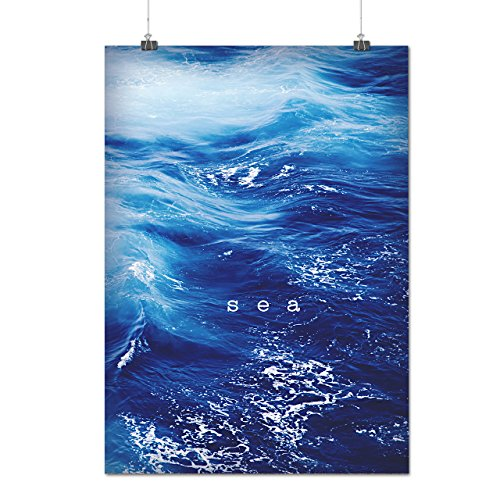 beautiful-blue-sea-ocean-wave-matte-glossy-poster-a4-30cm-x-21cm-wellcoda