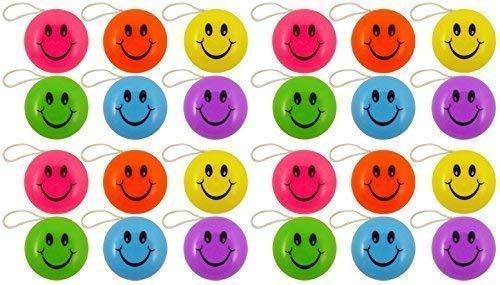 24 x Mini farbig yo yo Zurück Top Spielzeuge Childrens Partei Tasche Spielzeug Füller -