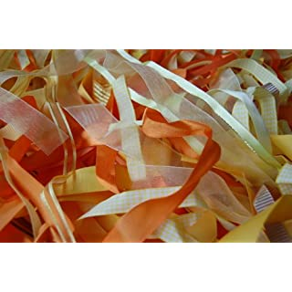 Assorted Yellow / Orange / Gold Ribbon, Approx 25m Per Bag by Anycraft-UK
