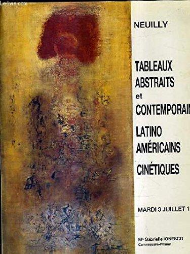 CATALOGUE DE VENTES AUX ENCHERES - TABLEAUX ABSTRAITS ET CONTEMPORAINS SCULPTURES - NEUILLY 3 JUILLET 1990.