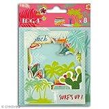 Toga Waikiki Beach–Set di 8Cornici Polaroid, Cartone, 9x 11x 0,2cm
