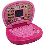 Smart Educational Laptop With LED Display & Music, Number And Alphabet Laptop Toy For Kids (PINK)