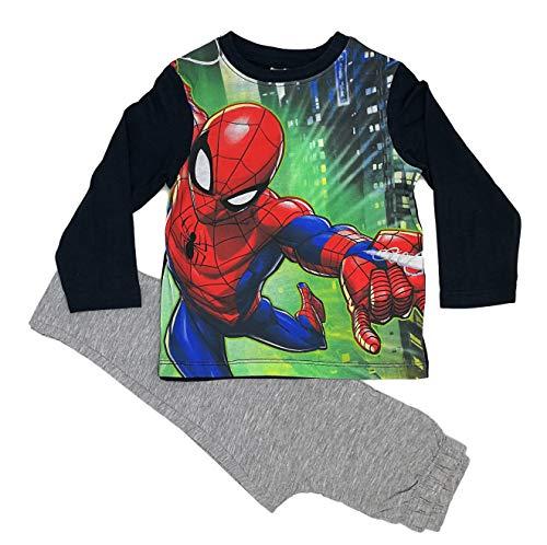 Spiderman Jungen Langarm Baumwolle Pyjama Set (Marine, 3 Jahre)