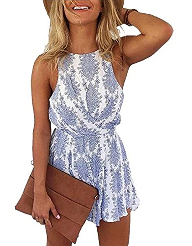 DRESHOW Frauen Sexy Strap Backless Sommer Strand Party Spielanzug Overall