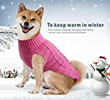 Idepet Pet Cat Dog Sweater,Warm Dog Coat Jumpers Hoodie Cat Clothes,Fleece Pet Coat for Puppy Small Medium Large Dog (XL, Pink)