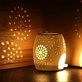 Ecooe Aromalampe Duftlampe aus Keramik weiß mit der Yankee Candle