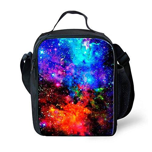 HUGSIDEA Fun Galaxy Lunch Bags Thermal Instulated Foog Box for Kids by HUGSIDEA