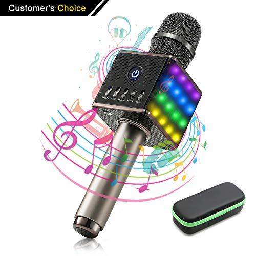 Tragbares drahtloses Karaoke Mikrofon Mikrofon Minibild
