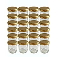 100er Set Sturzgläser Mini Gläser 53 ml Deckelfarbe Gold To 43 Rundgläser Honig Kaviar Marmeladengläser Obstgläser Einweckgläser Honig, Gläser, Einmachgläser, Portionsgläser, Probiergläser