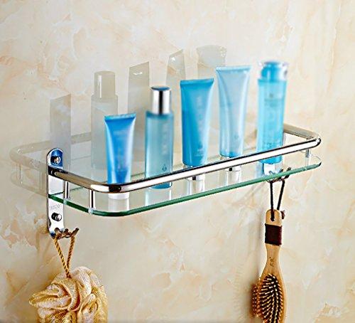 Badezimmer Glas rechteckige Regal Wand gehärtetem Glas extra dick, Hellen Abschnitt (Color : 51 * 13.5 * 13.5CM) -