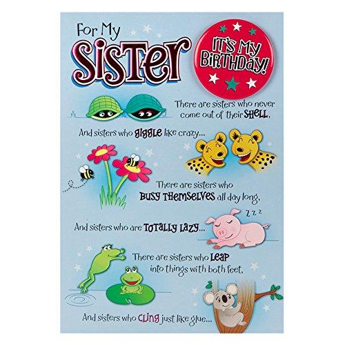 Hallmark Biglietto Di Auguri Di Compleanno Per La Sorella Motivo