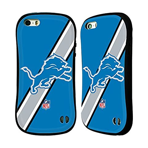 Official NFL Stripes Detroit Lions Logo Hybrid Case for Apple