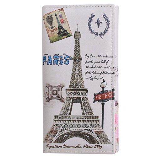 Minetom Donne Lungo Portafoglio Torre Eiffel Titolare Della Carta Portamonete ( Type 2 ) Type 3
