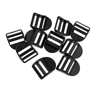 perfk 10 pcs Gurtband-Schnallen, Rucksack Kunststoff-Schnalle
