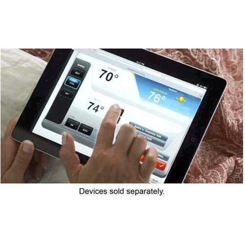 Honeywell RTH9580WF WiFi 9000 Color Touchscreen Thermostat, 8.06 sq in., Premier Silver-1