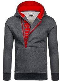 BOLF – Sweat-shirt á capuche – Pull de sport – BOLF Y10 – Homme