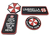 Ecussons Airsoft PVC Resident Evil Ensemble de Patchs