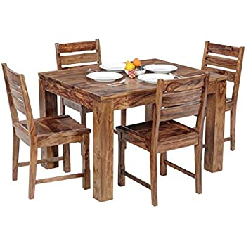 295d68fc082 Ringabell Modish Solid Wood Four Seater Dining Table (Natural Teak Finish)
