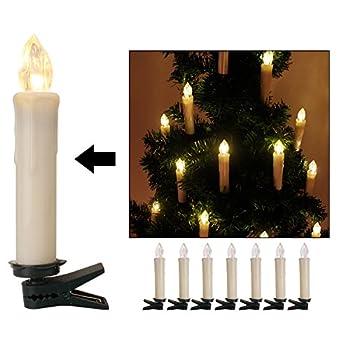 Kefflum 30er Weinachten Led Kerzen Kabellos Weihnachtskerzen Christbaumkerzen Dimmen Flackern Baumkerze-set,kerzen Lichtfarbe Warmweiß 1