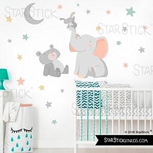 StarStick-Animales-tocando-la-luna-gris-Vinilos-infantiles-beb