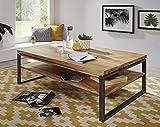 Main Möbel Couchtisch 120x80cm 'Taipeh' Wildeiche massiv