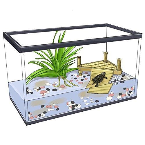 Unterwasser-brücke (wear-beauty Aquarium Fisch Tank Ornaments Zubehör Unterwasser Landschaftsbau Harz Schildkröte Schildkröte Reptilien Terrasse Brücke Dekorationen Schwimmende Schildkröte Insel Basking Plattform)