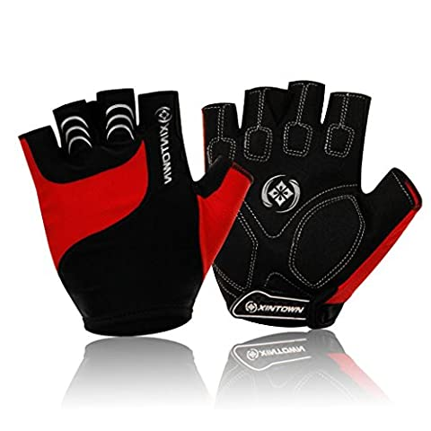 XINTOWN Radfahren Handschuhe Mountainbike Handschuhe Half Finger Road Racing Reithandschuhe