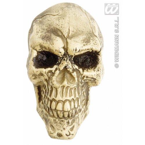 WIDMANN Wand-Totenkopf-Anhänger mit blinkenden LED-Augen, 25 cm, Zubehör für Halloween, tote Kostüme