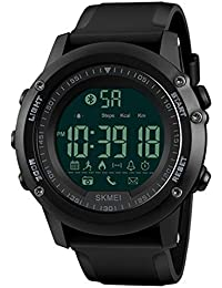 Reloj electrónico deportivo inteligente para hombre Reloj deportivo para montaña al aire libre Reloj luminoso multifuncional impermeable para estudiantes,B