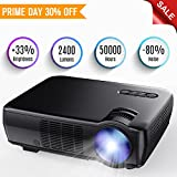 "Projector, TENKER Upgrade +33% Lumens Portable Video Projector Mini Home Theater 5.0"" LCD Projector With 176"" Display Support 1080p HDMI VGA USB AV For Out Door & Indoor Movie Nights, Video Games"