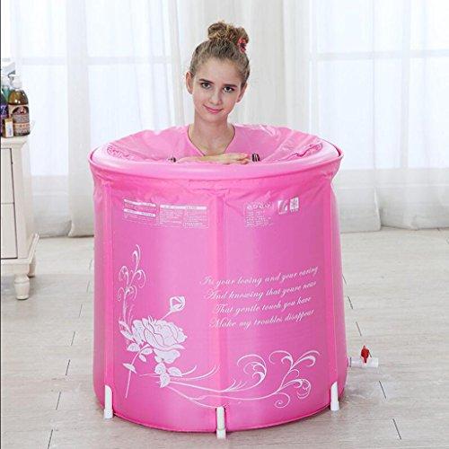 YUJIE Soporte plegable para adultos Bañera Bañera portátil Bañera de plástico Estampado...