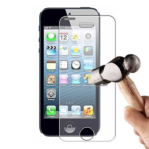 6 0,3 mm Ultra-Thin Tempered Gorilla Glass Displayschutzfolie für Apple iPhone 5/5S/5C ()