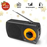 Portable AM/FM Radio, AM Radio Pocket Radio with Headphone Jack, Best Reception, Battery Operated Personal Transistor by 2 AA Battery for Jogging,Walking and Travelling(907-B)