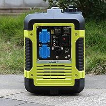 Generador electrico inverter gasolina 2000W 220V x 2 pinzas cargador baterias DC