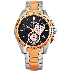 Tissot Men's T0244172205100 Veloci-T Stainless-Steel Quartz Black Dial Watch