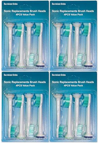 Philips Recambios para Cabezales de Cepillo Cabezales de Cepillo para Philips Cabezales para cepillo dientes eléctrico 16 piezas