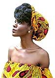 African Head Wrap HongyuAmy Extra lange 72