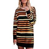 Jaminy Damen Sweatshirt Langarm T Shirt Tunika Tops Pullover Langarmshirts Damen Mode Herbst Winter S-2XL (XL, Orange)