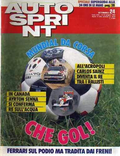Autosprint Auto Sprint 24 Giugno 1990 Ayrton Senna, Carlos Sainz, Cerrato