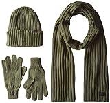 G-STAR RAW Xemy Giftpack, Set Sciarpa, Cappello e Guanti Uomo, Multicolore (Gs Grey/Bright Jungle/Sag 8608), Taglia Unica (Taglia Produttore: PC)