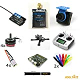 QAV X210 4mm X Frame,Racing Drone Kit with FPV, 4 EMAX 2300 S Motors, ESC,F3 FC,PDB,Video and Flysky radio